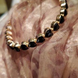 💝 New Beautiful Black heart Bracelet
